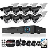 TECBOX Security Video Camera System AHD DVR 1TB Hard Drive Preinstalled 8 Channel Smart Home Equipment with 8 HD 720P Outdoor Wifi Remote View Motion CCTV Camera For Sale