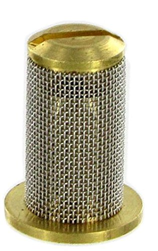 TeeJet 4193A-10-50SS Strainer and Check Valve - Brass Body, Stainless Steel Mesh Screen (Pack of 12)