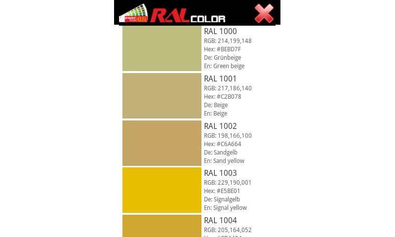 Amazon Com Ral Color House Painting Appstore For Android
