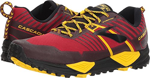 Brooks Men's Cascadia 13 Red/Yellow/Black 9.5 D US