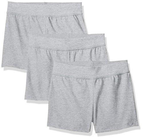 Boxer Boxer Girl - Hanes Little Girls' Jersey Short (Pack of 3), Light Steel, Small