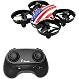 Potensic Mini A20 Altitude Hold Quadcopter Drone 2.4G 6 Axis Headless Mode Rem 6 Remote Control Nano Beginners, American Flag