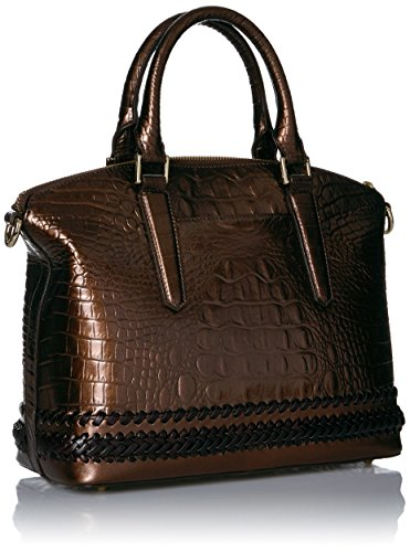 Patina Handle Brahmin Satchel Bag Duxbury Convertible Top YwqC6Opq