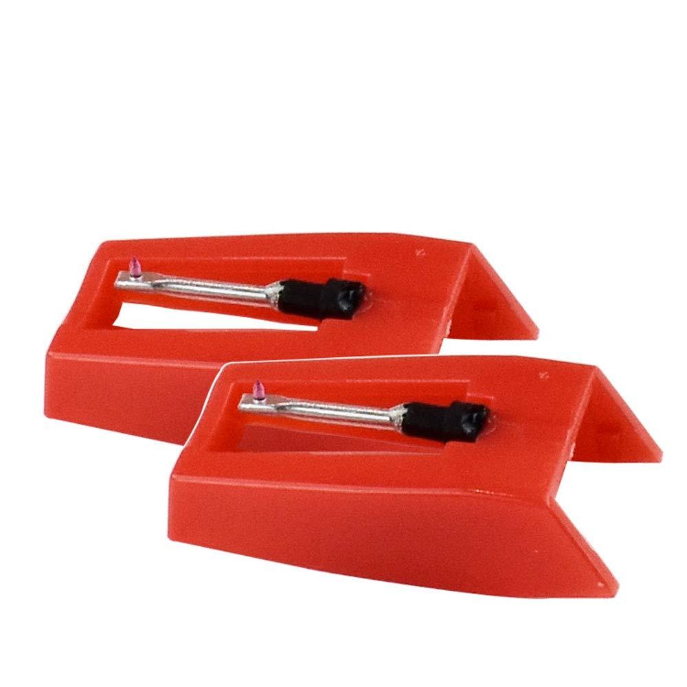 2 agujas de repuesto para tocadiscos con punta de diamante para ...