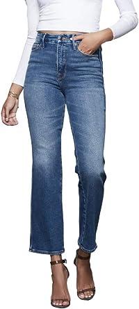 Good American Good Curve Straight Women S Designer Denim In Blue 190 Comfort Stretch Fabric At Amazon Women S Jeans Store
