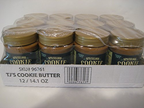 Trader Joe's Speculoos Cookie Butter By the Case, (12)- 14.1 Oz Jars. Buy More & Save More!