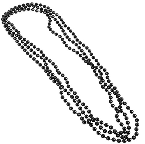 Play Kreative Metallic Bead Necklaces -12 PK TM (Black)