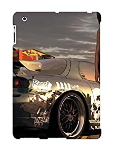 Ipad 2/3/4 Case Cover - Slim Fit Tpu Protector Shock Absorbent Case (need For Speed - Prostreet )