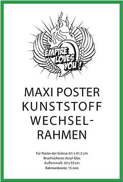 Motivations Poster Plakat Druck 2 St Posterleisten Kunststoff 62 cm transparent Gr/ö/ße 61x91,5 cm Motivational Riskiere mehr