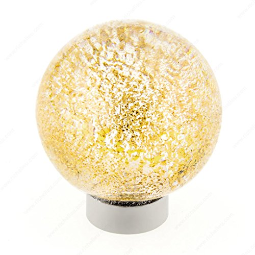 - Richelieu 40473011131 Clear/Metallic Gold Contemporary Murano Glass Knob - 4047