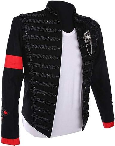 Amazon Com Mj Michael Jackson Juego De Camisetas Para Hombre Estilo Clasico Estilo De Inglaterra Estilo Militar Color Negro Clothing