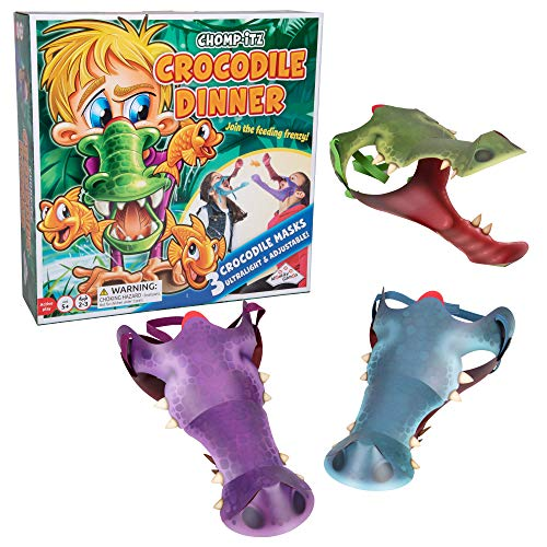 Chomp-Itz Crocodile Challenge Game - Pick up Challenge for Kids with Included 3 Masks - Ages 5 and Up - 2 to 3 Players]()