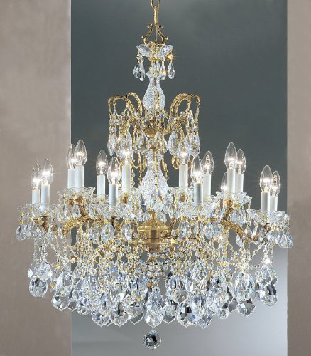Classic Lighting 5548 OWB S Madrid Imperial, Crystal Cast Brass, Chandelier, 30