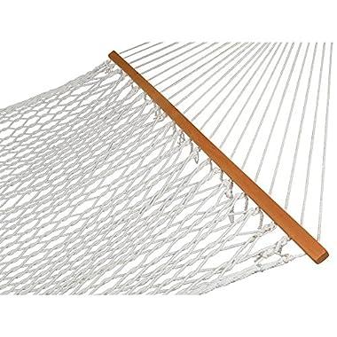 Zeny® Hammock 59  Cotton Double Wide Solid Wood Spreader Outdoor Patio Yard