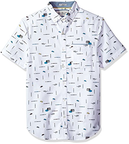 Original Penguin Men's Intermittent Paintbrush Shirt, Bright White, Extra Extra Large by Original Penguin