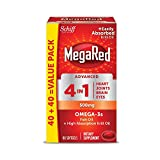 MegaRed Advanced 4in1 500mg, 80 softgels – Concentrated Omega-3 Fish & Krill Oil Supplement For Sale