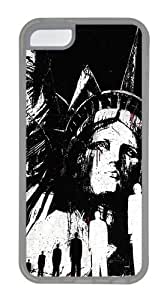 Statue Of Liberty Illustration Custom Apple iPhone 5C Case TPU Case Cover Compatible with iPhone 5C Transparent by patoner