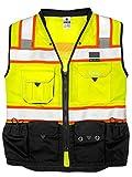 ML Kishigo - Premium Black Series Surveyors Vest - Lime Size: X-large
