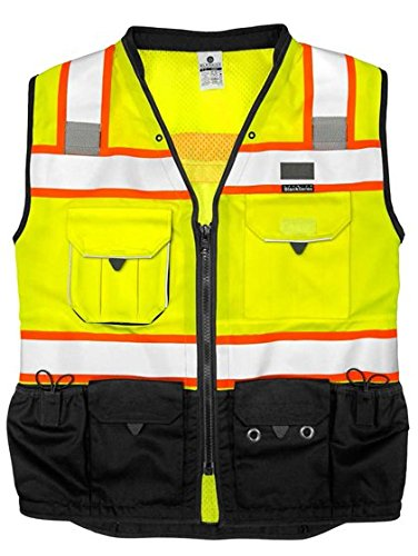 ML Kishigo - Premium Black Series Surveyors Vest - Lime Size: X-large