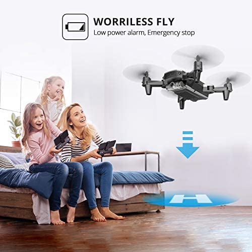 DEERC D20 Mini Drone for Kids with 720P HD FPV Camera Remote Control Toys Gifts for Boys Girls with Altitude Hold, Headless Mode, One Key Start, Tap Fly, Speed Adjustment, 3D Flips 2 Batteries 517 NaPsFbL