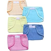 PEUBUD ®Padded uslin Double Cotton Thick Cloth Nappy/Langot Washable and Reusable for New Born Baby - Set of 5 Pcs