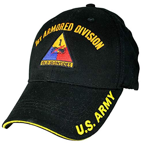 1st Armored Division Low Profile Cap Black