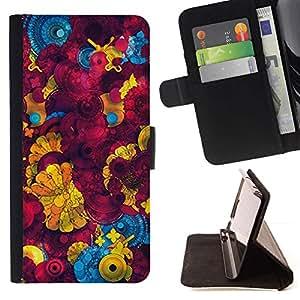 For Motorola Moto E ( 1st Generation ) Case , Amarillo abstracto 3D Patrón- la tarjeta de Crédito Slots PU Funda de cuero Monedero caso cubierta de piel