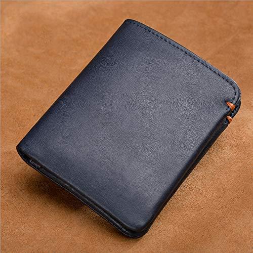 Giovani Aimixu Casuale Grande black Portafogli Fold Corto Due Capacità Uomo Blue Uomini Portafoglio FTwvqT