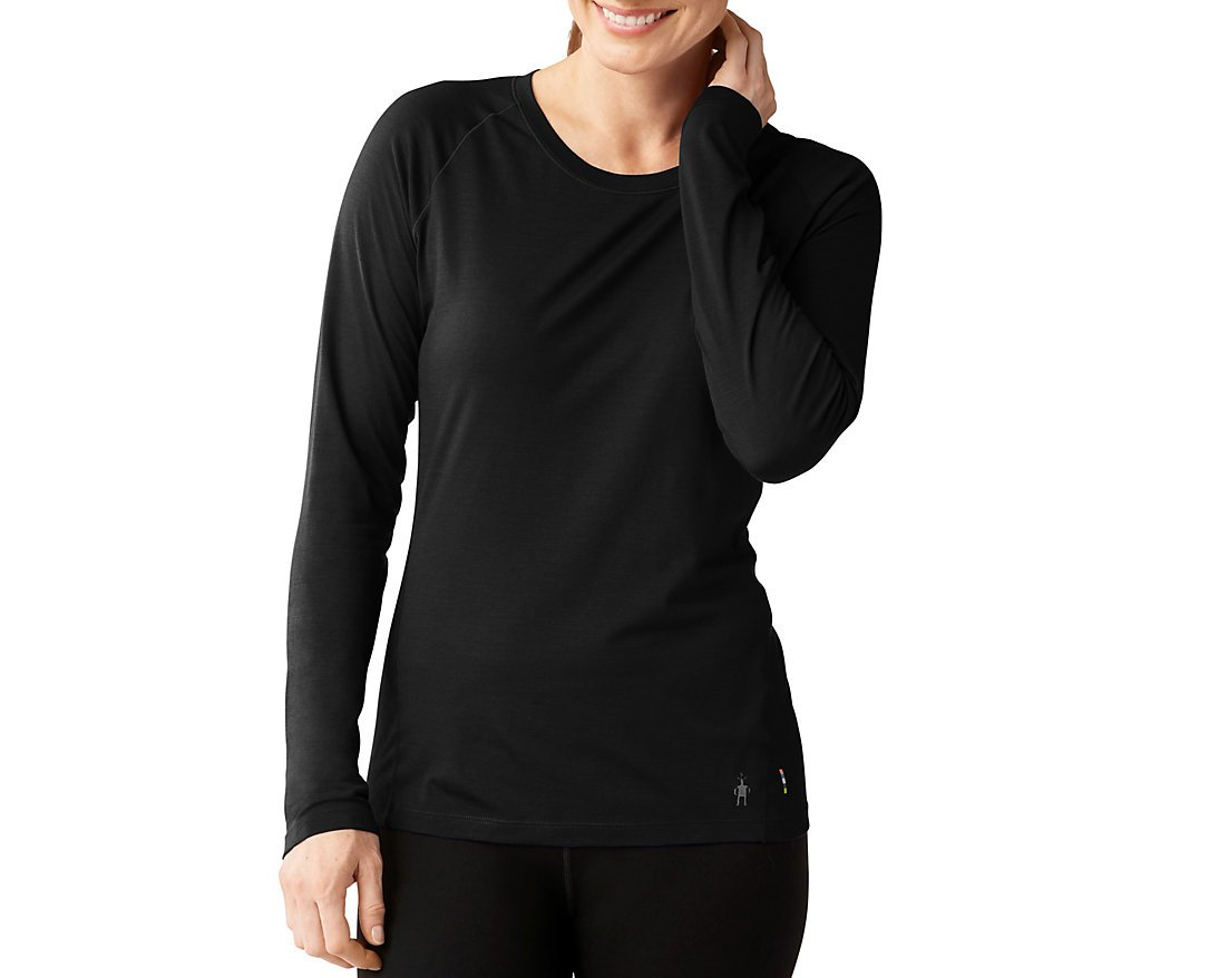 Smartwool Women's Merino 150 Baselayer Long Sleeve (Black) Medium