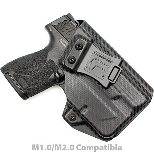 Tulster M&P Shield 9mm/.40 w/TLR-6 Holster IWB Profile Holster (Black Carbon Fiber - Right Hand)