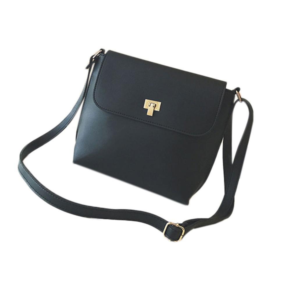 Jiusike Fashion Pure color Crossbody Bag Messenger Shoulder Bag for Women