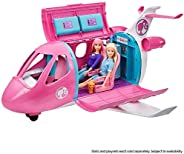Barbie Dreamplane Transforming Playset with Reclining Seats and Working Overhead Compartments, Plus 15+ Pieces