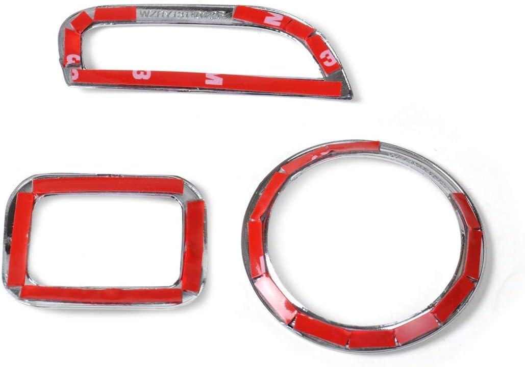 NO LOGO FJJ-CSZS Chrome 2X Aria condizionata Vent Copertura 2 Pezzi Console Dashboard Interruttore Disposizione della Copertura della Dodge Journey for Fiat Freemont 2011-2014