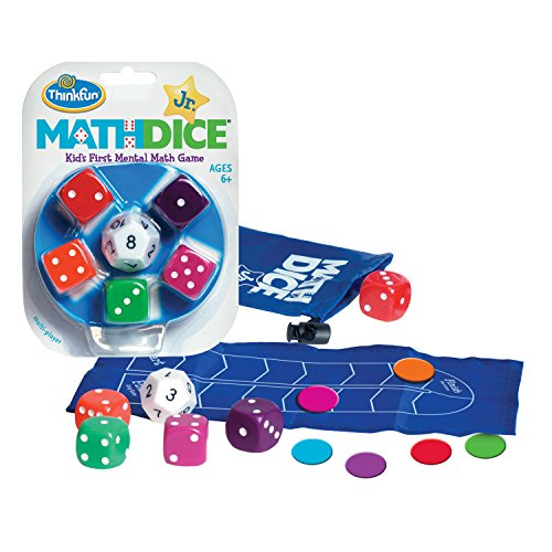 ThinkFun Math Dice Junior Game for Boys and Girls Age 6 and Up - Teachers Favorite and Toy of the Year -