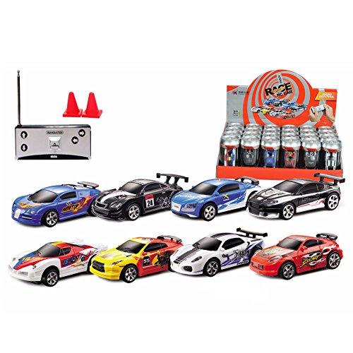 zobeen 1PC Mini Coke Can Radio Remote Control Electric RC Speed Micro Racing Car Toys ()