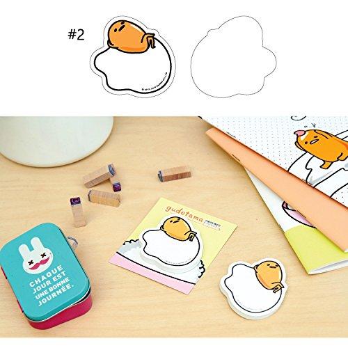 Sanrio Gudetama Lazy Egg Sticky Note Memo Pad Post It (50 Sheets) : #2