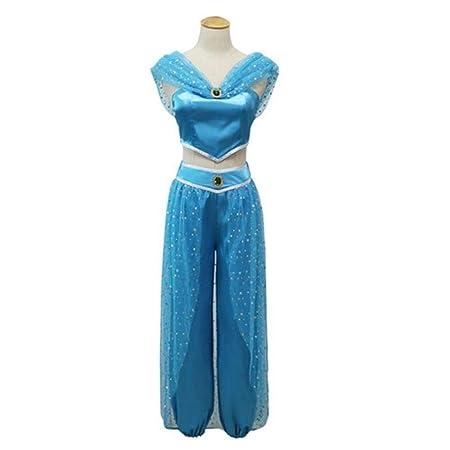 YyiHan Cosplay Disfraz, Lámpara de Aladdin cos Princesa Jasmine ...