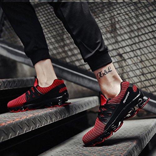 Sneakers Scarpe Estive Eleganti Beautyjourney Sportive Corsa Uomo Donna Da Rosso Ginnastica Running 3JcT1lFK
