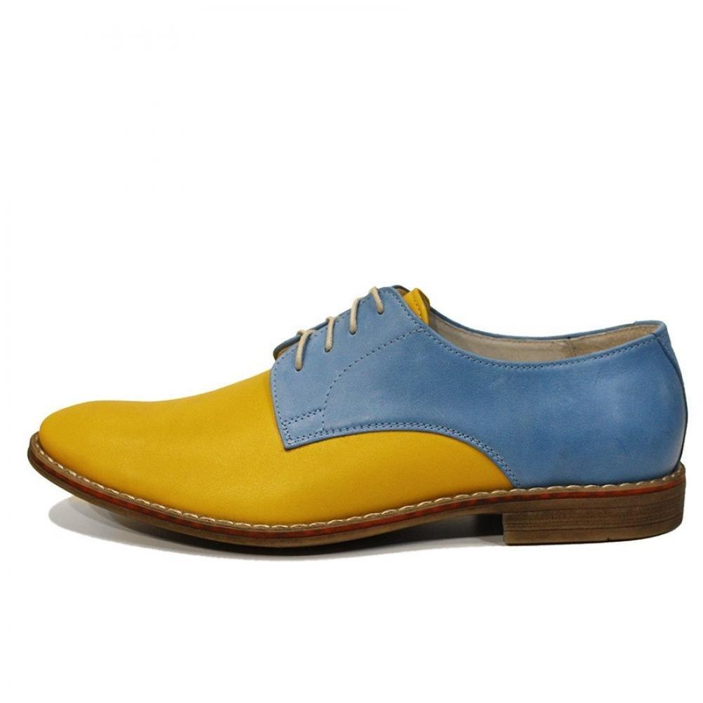 Modello Gino - Handmade Italiano da da da Uomo in Pelle colore Giallo Scarpe da Sera - Vacchetta Pelle Morbido - Allacciare 4c23a6