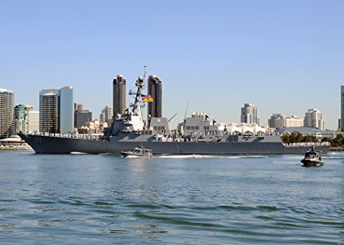 Home Comforts Laminated Poster The U.S. Navy Guided-Missile Destroyer USS Spruance (DDG-111) departs Naval Base San Diego on its ma Vivid Imagery Poster Print 24 x 36 ()