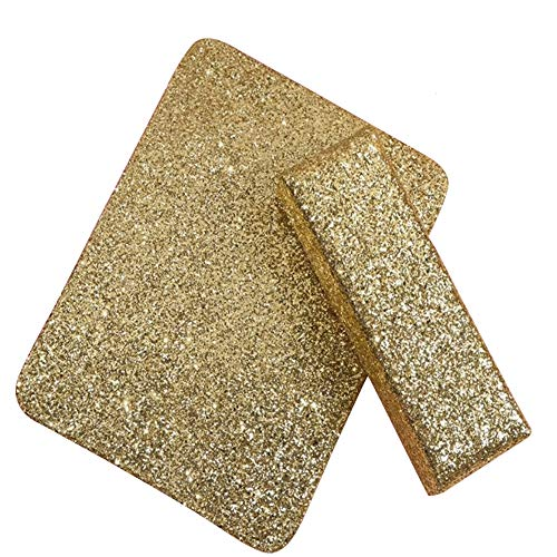 YARUMI Professional Nail Art Hand Pillow with Mat,Shiny Manicure Art Foldable Manicure Table Mat,Salon Nail Polish Arm Rest Holder Sponge Nail Pillow,Beauty Nail DIY Design Manicuring Table Decor,Gold