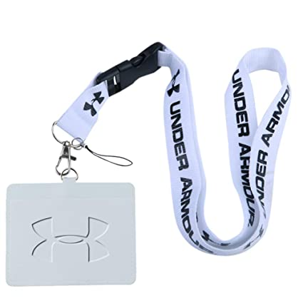 637d490c4e Amazon.com : Under Armour White Faux Leather Business ID Badge Card ...