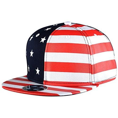 Chic Aivtalk - Gorra de Béisbol Unisex Estampado de Bandera Hip Hop Sombrero  Plano Snapback Dance 2d440095f9c