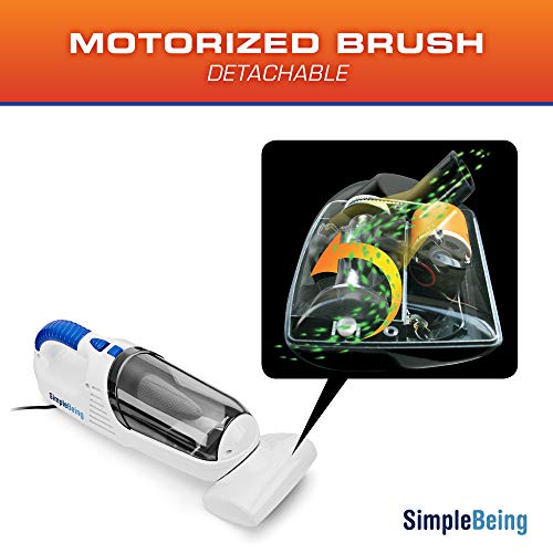 Simple Being Car Vacuum Power Auto Cleaners, Reusable Bowl, Removable
