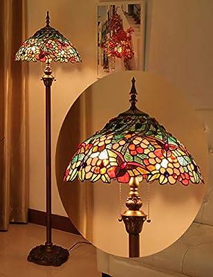 NIU SHOP Lámparas de pie Lámpara de pie Estilo Tiffany, lámparas ...