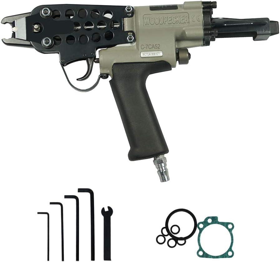 uso m/ás f/ácil Clavo neum/ático pistola Grapadora neum/ática Grapadora Pistola de grapas neum/ática Herramienta para clavar carpinter/ía