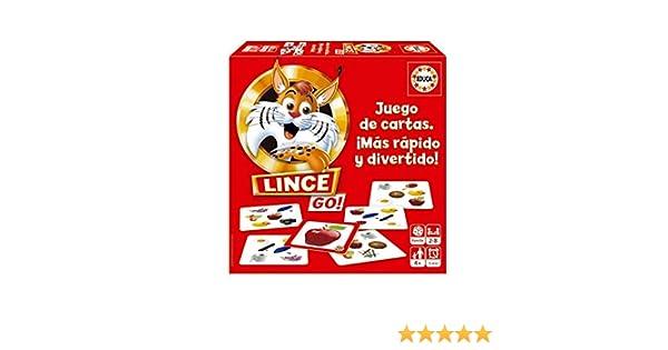 Educa - Lince Go, versión cartas, juego de mesa familiar que pone a prueba los reflejos, a partir de 6 años (18712): Amazon.es: Juguetes y juegos
