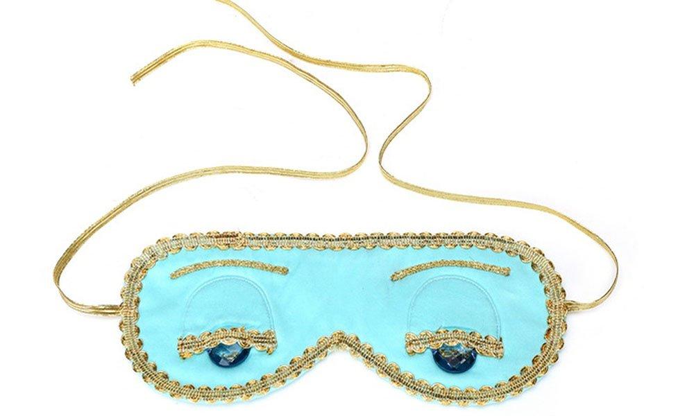 Audrey Hepburn Breakfast at Tiffany's Holly Golightly Blue Sleep Mask Handmade, Silk, Tiffany Turquoise