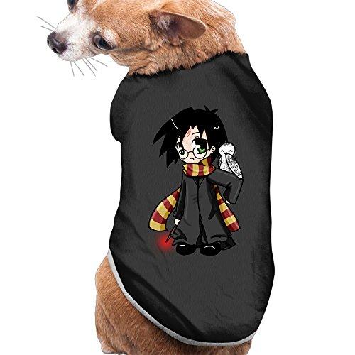 Harry Potter Pet Costumes (NCKG Doggy Apparel Tshirt Harry Potter Dog PuppySize LColor Black)