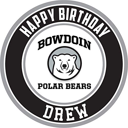 (Bowdoin Polar Bears Edible Cake Topper Personalized Birthday 10